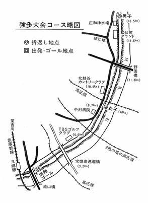 三郷江戸川堤防コース略図